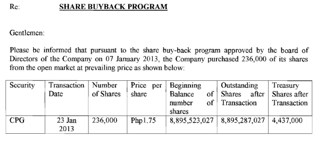 share buyback program