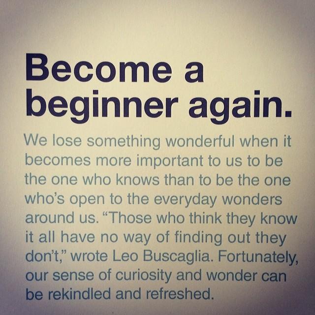 Beginner Again
