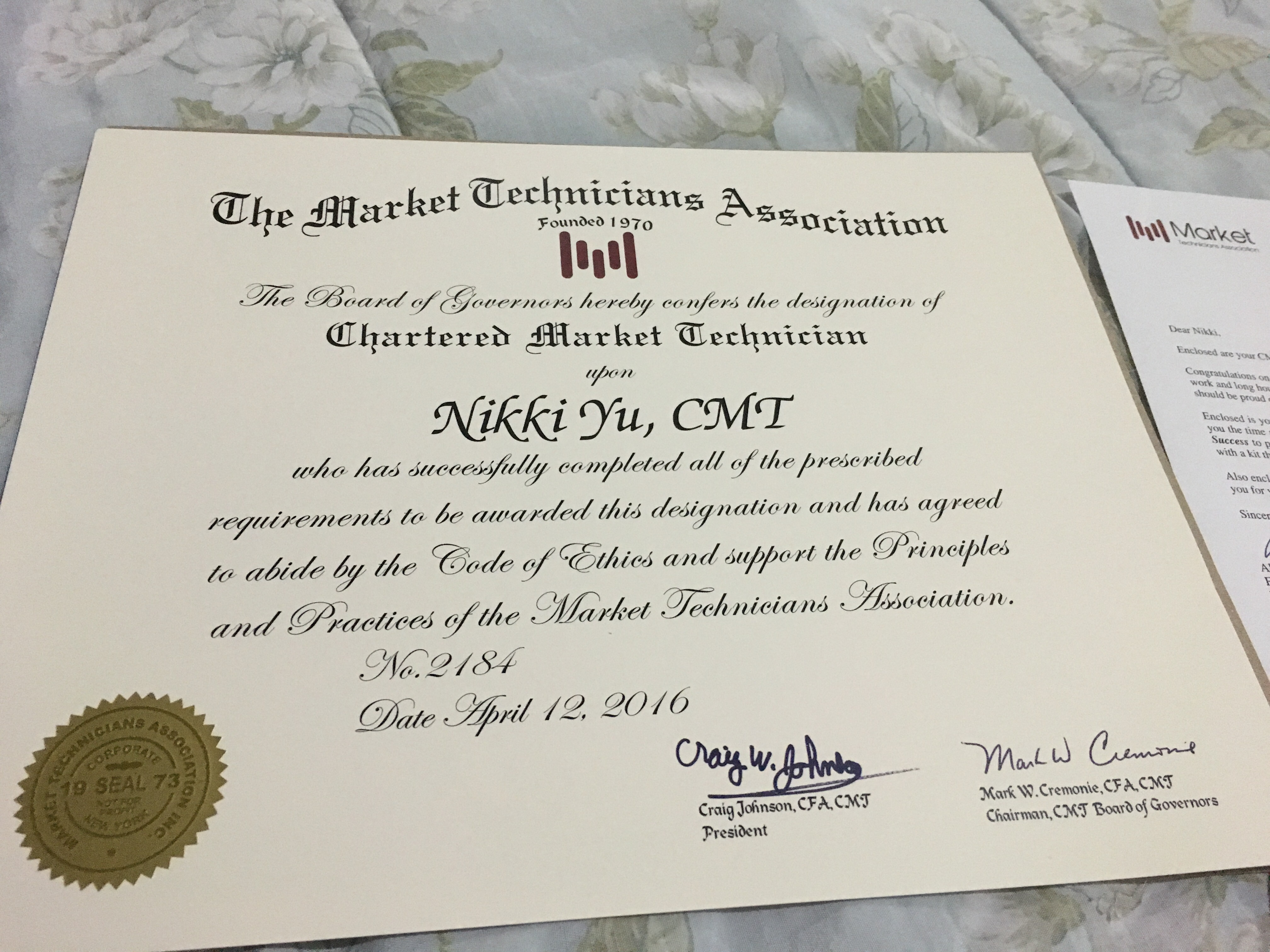 May 72016 getting the cmt designation one thing i did right i have done many mistakes in my life but i am thankful that one thing i didnt do wrong was pursue a worthwhile ideal to take the chartered market 1betcityfo Image collections